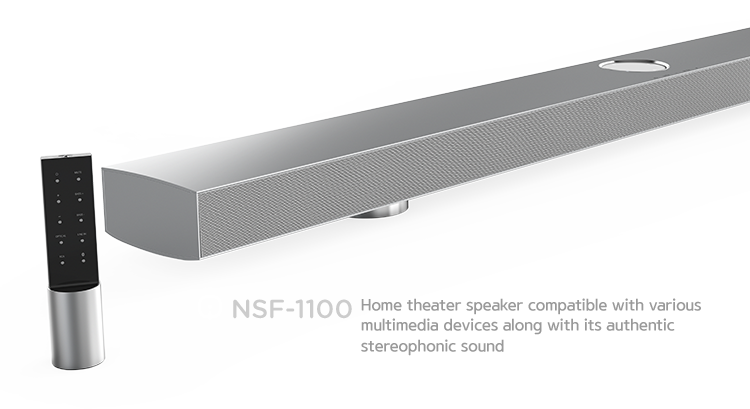 NSF-1100. Home theater speaker compatible with various multimedia devices along with its authentic stereophonic sound